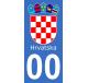 Autocollants blason de Croatie pour plaque immatriculation numéro au choix