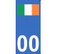 Autocollants drapeau d'Irlande pour plaque immatriculation numéro au choix