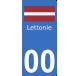 Autocollants drapeau de Lettonie pour plaque immatriculation numéro au choix