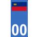 Autocollants drapeau du Liechtenstein pour plaque immatriculation numéro au choix