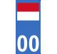 Autocollants drapeau de Monaco pour plaque immatriculation numéro au choix