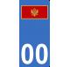 Autocollants drapeau du Monténégro pour plaque immatriculation numéro au choix
