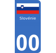 Autocollants drapeau de Slovénie pour plaque immatriculation numéro au choix
