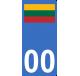 Autocollants drapeau de Lituanie pour plaque immatriculation numéro au choix