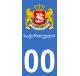 Autocollants armoiries de Géorgie pour plaque immatriculation numéro au choix