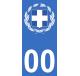 Autocollants armoiries de Grèce pour plaque immatriculation numéro au choix