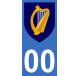 Autocollants blason d'Irlande pour plaque immatriculation numéro au choix