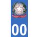 Autocollants emblème d'Italie pour plaque immatriculation numéro au choix