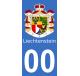 Autocollants armoiries du Liechtenstein pour plaque immatriculation numéro au choix