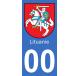 Autocollants blason de Lituanie pour plaque immatriculation numéro au choix