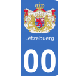 Autocollants armoiries du Luxembourg pour plaque immatriculation numéro au choix
