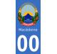Autocollants emblème de Macédoine pour plaque immatriculation numéro au choix