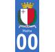 Autocollants armoiries de Malte pour plaque immatriculation numéro au choix