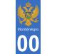 Autocollants armoiries du Monténégro pour plaque immatriculation numéro au choix