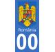 Autocollants armoiries de Roumanie pour plaque immatriculation numéro au choix