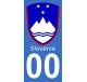 Autocollants blason de Slovénie pour plaque immatriculation numéro au choix