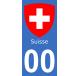 Autocollants blason de Suisse pour plaque immatriculation numéro au choix
