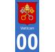 Autocollants blason du Vatican pour plaque immatriculation numéro au choix