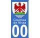 Autocollants du comté de Nice pour plaque immatriculation numéro au choix