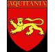 Autocollant Ecu province d'Aquitaine
