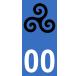 Autocollants avec triskell breton