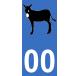 Autocollants âne catalan pour plaque immatriculation numéro au choix
