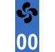 Autocollants lauburu basque pour plaque immatriculation numéro au choix