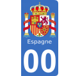 Autocollants armoiries d'Espagne pour plaque immatriculation numéro au choix
