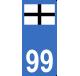 Autocollants Kroaz Du ( Bretagne) pour plaque d'immatriculation