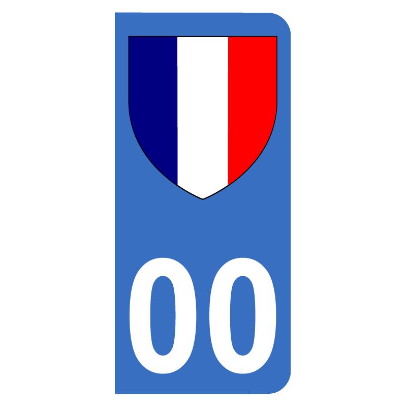 Autocollants avec blason drapeau Français