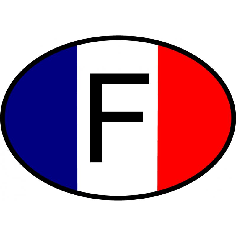 Logo voiture drapeau France ancien