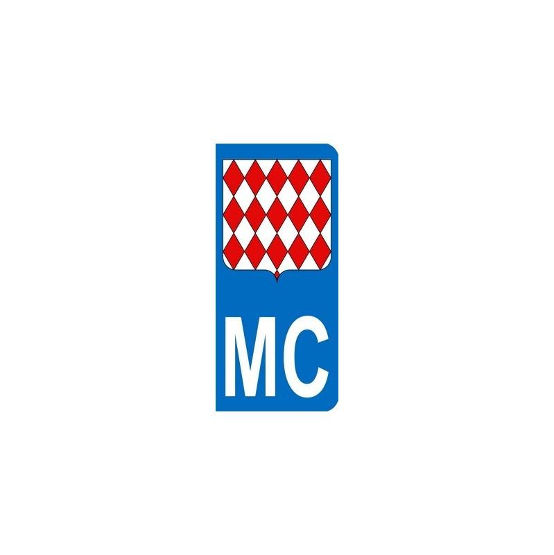 Autocollants MC avec blason de la principauté de Monaco