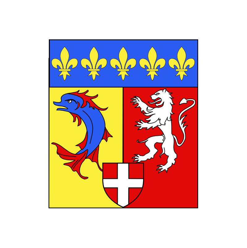 Sticker région Rhône-Alpes logo plaque immatriculation