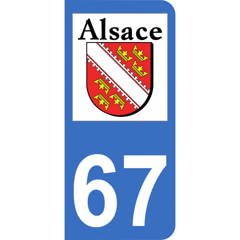 autocollants 67 logo officiel r gion alsace pour plaque immatriculation mon blason. Black Bedroom Furniture Sets. Home Design Ideas