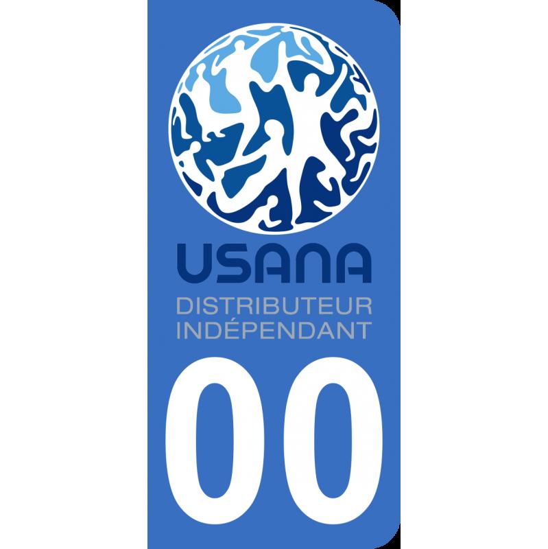 Autocollants avec Logo USANA et numéro de département personnalisé