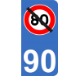 Autocollant avec panneau de signalisation vitesse 80km/h barré