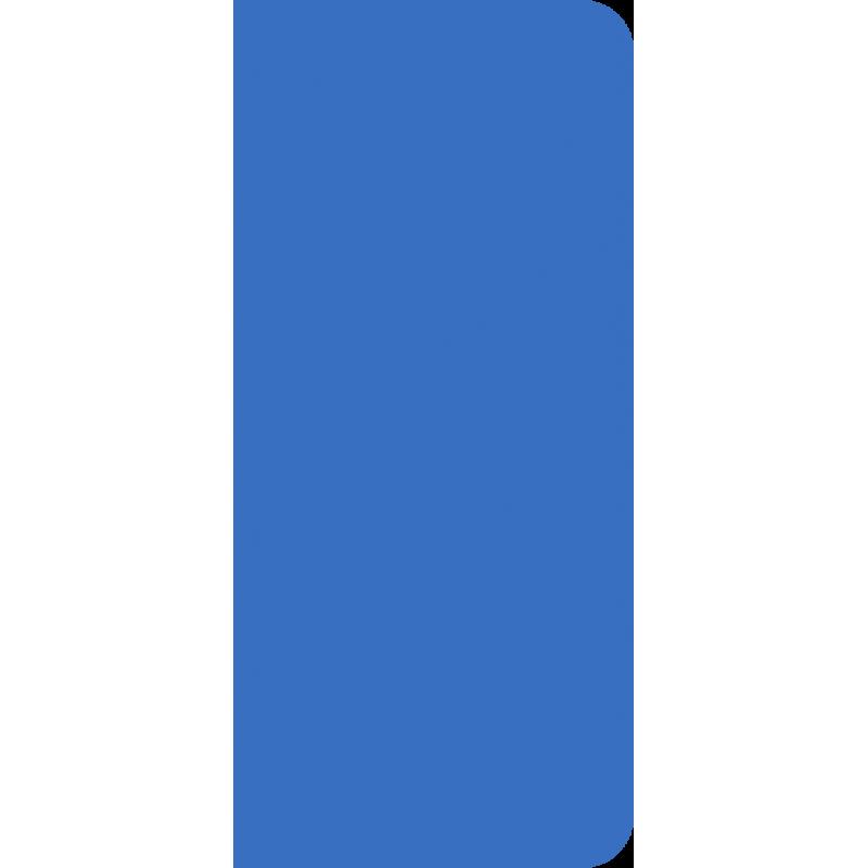 Autocollant bleu sans inscription pour plaque d'immatriculation