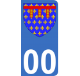 Autocollant Province d'Artois pour plaque immatriculation numéro au choix