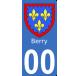 Autocollant Province du Berry pour plaque immatriculation numéro au choix