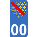 Autocollant Province du Bourbonnais pour plaque immatriculation numéro au choix