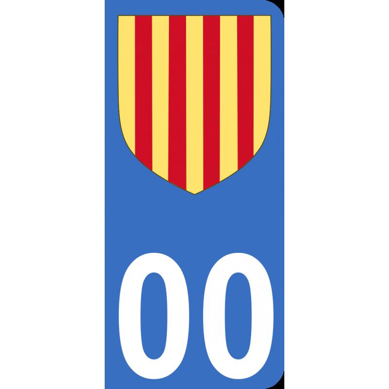 Autocollants Province de Provence pour plaque immatriculation numéro au choix