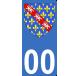 Autocollants Province de la Marche pour plaque immatriculation numéro au choix