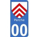 Autocollants Province du Perche pour plaque immatriculation numéro au choix
