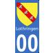 Autocollants Province de Lorraine et Barrois pour plaque immatriculation numéro au choix
