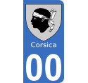 Autocollants Province de Corse pour plaque immatriculation numéro au choix