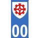 Autocollants de la République de Mulhouse pour plaque immatriculation numéro au choix