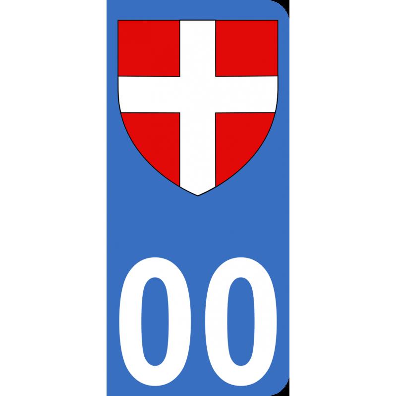 Autocollants du duché de Savoie pour plaque immatriculation numéro au choix