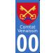 Autocollants Comtat Venaissin pour plaque immatriculation numéro au choix