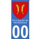 Autocollants de la Principauté de Montbéliard pour plaque immatriculation numéro au choix