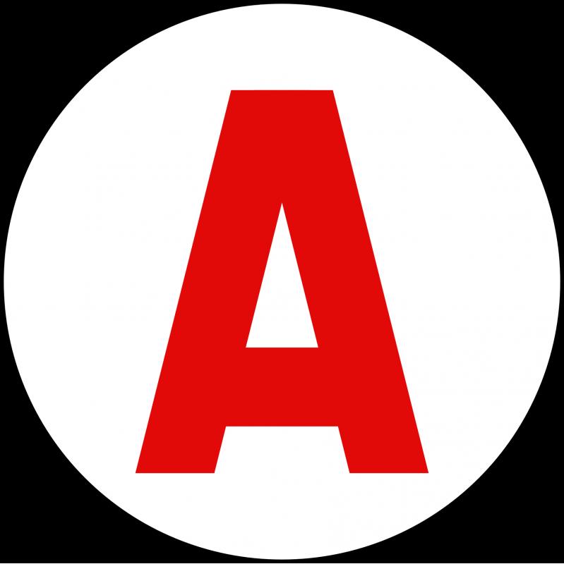 sticker logo A pour apprentis conducteurs